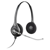 Plantronics SupraPlus HW261/A Wideband Binaural Voice Tube Headset - Black