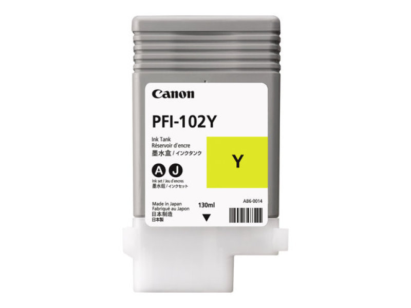 Canon (PFI-102 Y) Ink Cartridge yellow