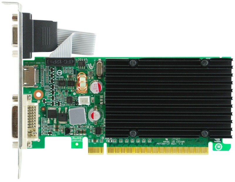 EVGA GeForce G210 1GB DDR3 VGA DVI HDMI Passive Low Profile PCI-E Graphics Card