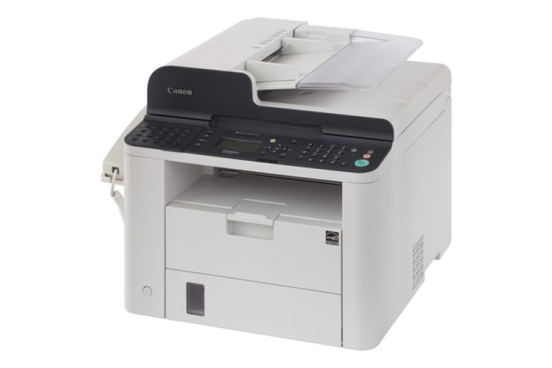 Image of Canon i-SENSYS FAX-L410 This robust, compact Super G3 laser fax machine, with its large LCD display, fast performance and automatic duplex ADF, is ideal for everyday use within any business. Standalone facsimile & Laser printer 33.6K bps (Super G3) 50 sh