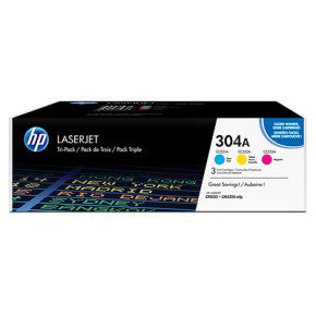 HP 304A CYM Tri-Pack Toner Cartridge - CF372AM