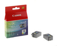 Canon BCI-16 Colour Inkjet Cartridges (Pack of 2)
