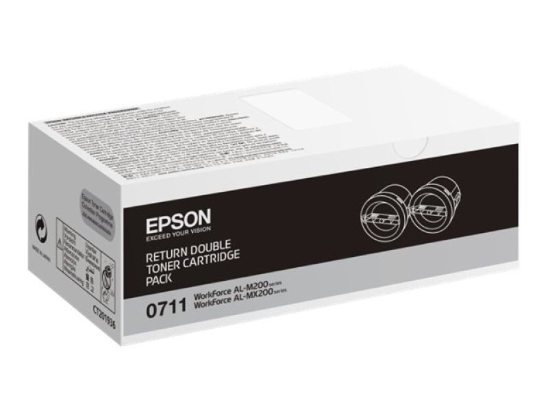 Epson ALM200 Black Toner Cartridge  Pack of 2