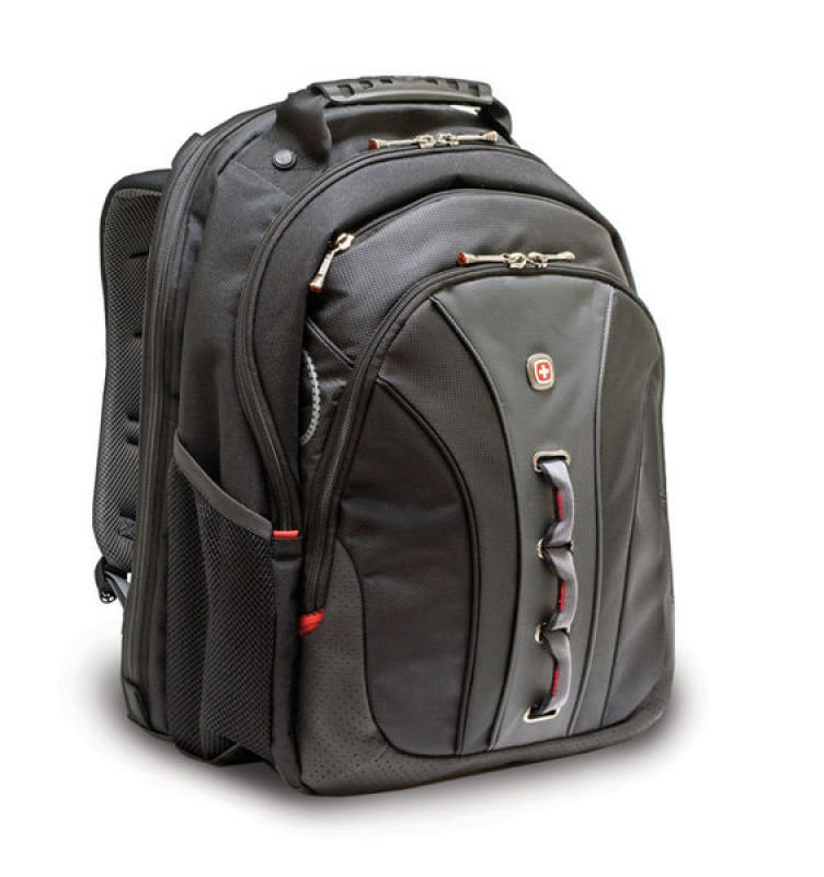"Image of Wenger Legacy Backpack, For Laptops up to 16"" - Black + Grey"
