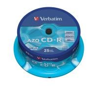 Verbatim 52x CD-R 700MB Super Azo Disc - 25 Pk