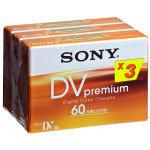 Sony Mini DV Camcorder Tape 3 Pack 60min - Dvm Premium On Blister