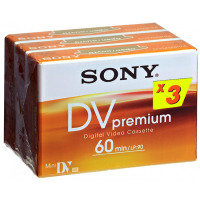 Sony Mini DV Camcorder Tape 3 Pack 60min - Dvm Premium On Blister