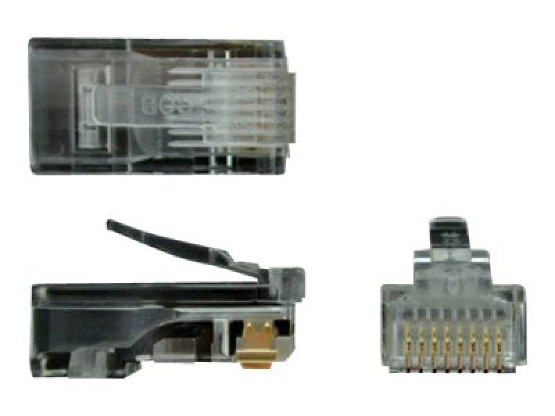 Cat5e Rj45 Stranded Modular - Plug Connector 50 Pkg-rj45 Ends Uk