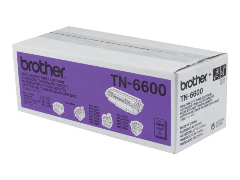 brother tn 6600 black toner cartridge 6000 pages ebuyer. Black Bedroom Furniture Sets. Home Design Ideas