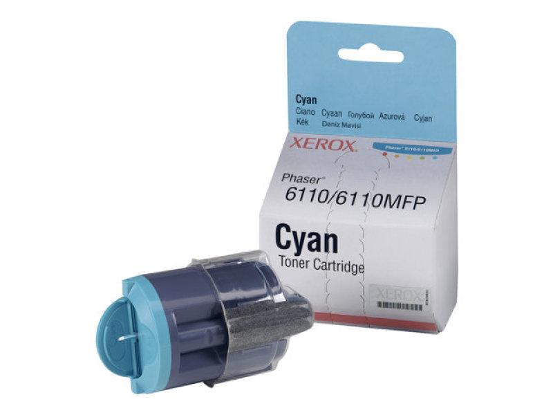 Xerox - Toner cartridge - 1 x cyan - 1000 pages - For Phaser 6110/6110mfp