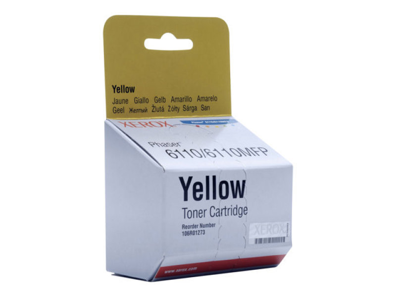 Xerox - Toner cartridge - 1 x yellow - 1000 pages - For Phaser 6110/6110mfp