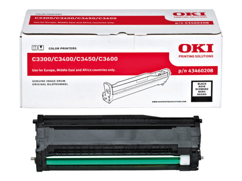 OKI Black Imaging Drum for C3300N and C3400N