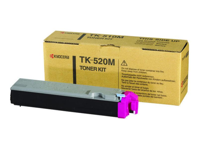 Kyocera TK 520M Magenta Laser Toner Cartridge