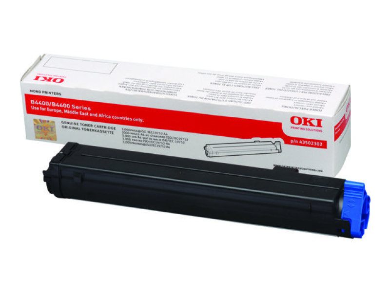 OKI - Toner cartridge - 1 x black - 3000 pages For B4400/4600