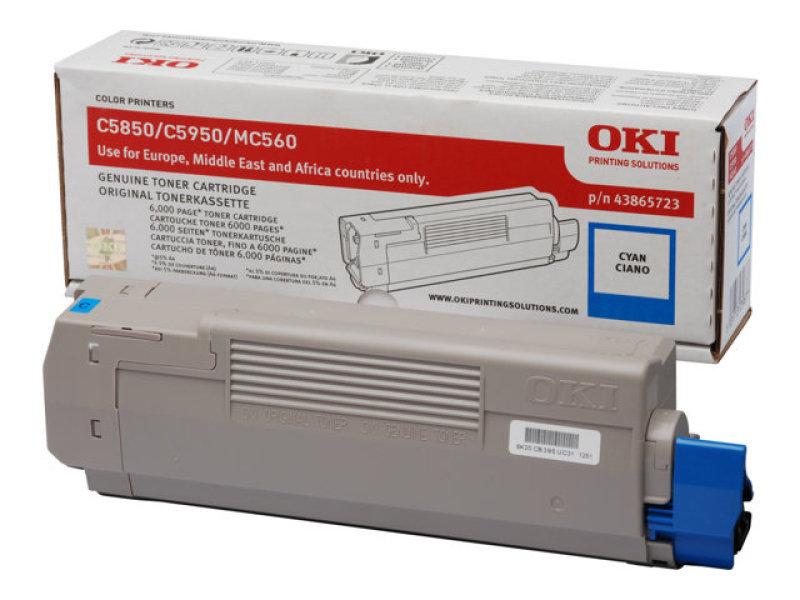 Oki C5850 Cyan Toner Cartridge