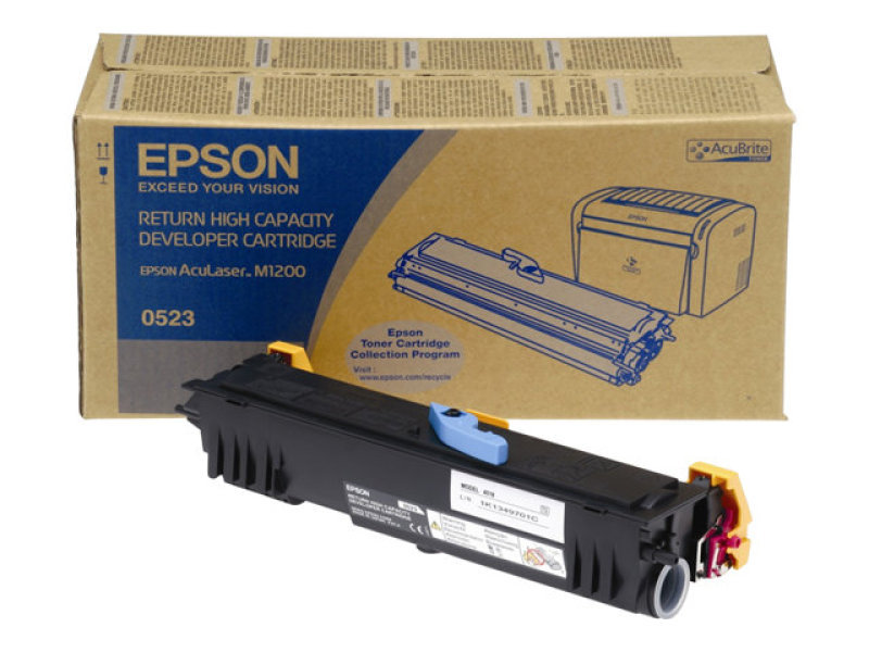 Epson - Toner cartridge - high capacity - 1 x black - 3200 pages - Epson Return Program - ACULASER M1200