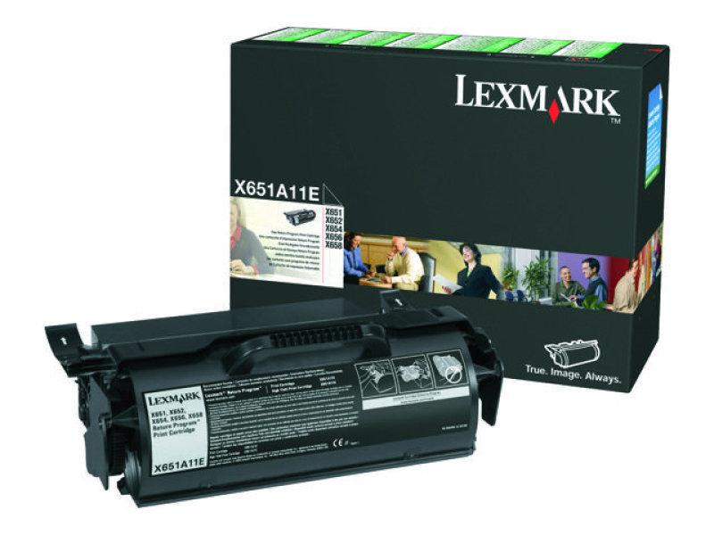 Lexmark X651A11E Toner Cartridge - Black Lexmark