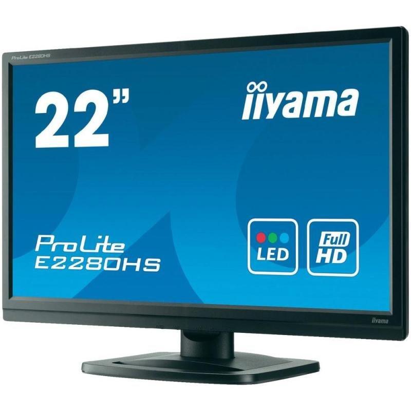 Iiyama Prolite E2280hs 22&quot LED LCD HDMI Monitor