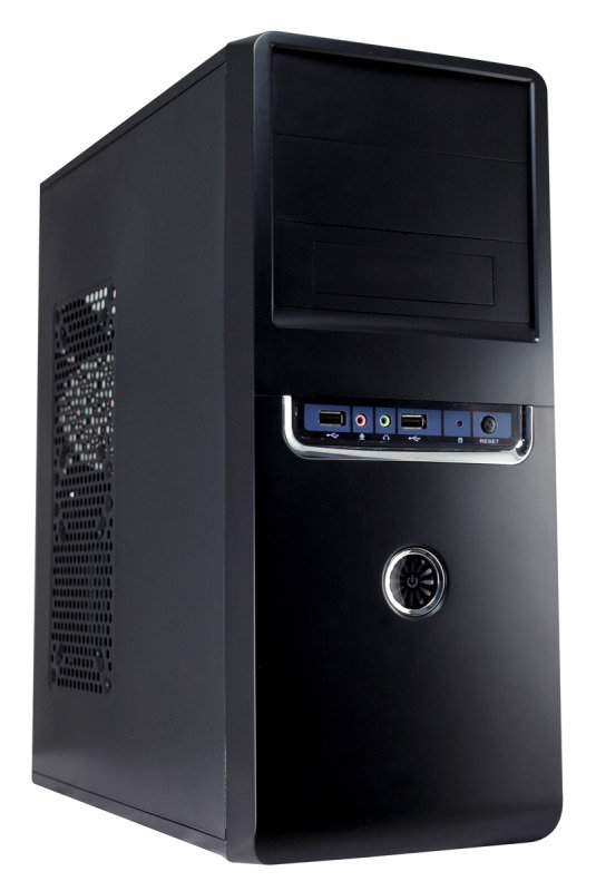 Image of CIT 1018 Black/Silver Midi Case 500W PSU