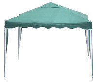 Pop Up Gazebo 3M x 3M Green and White Stripe