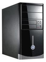 CIT 1015BS Gloss Black/Silver Micro ATX Case 500W PSU
