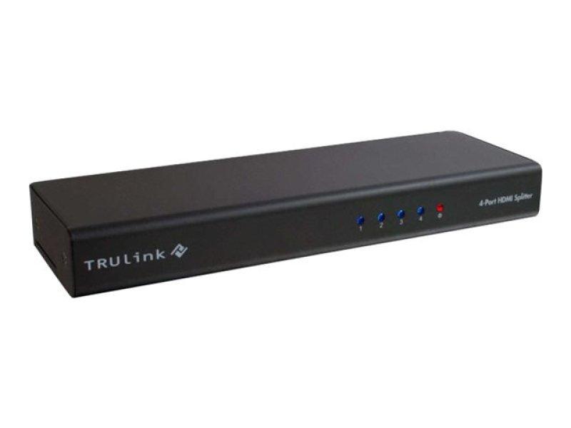 C2G 4-Port HDMI Splitter With HDCP Video/Audio Splitter 4