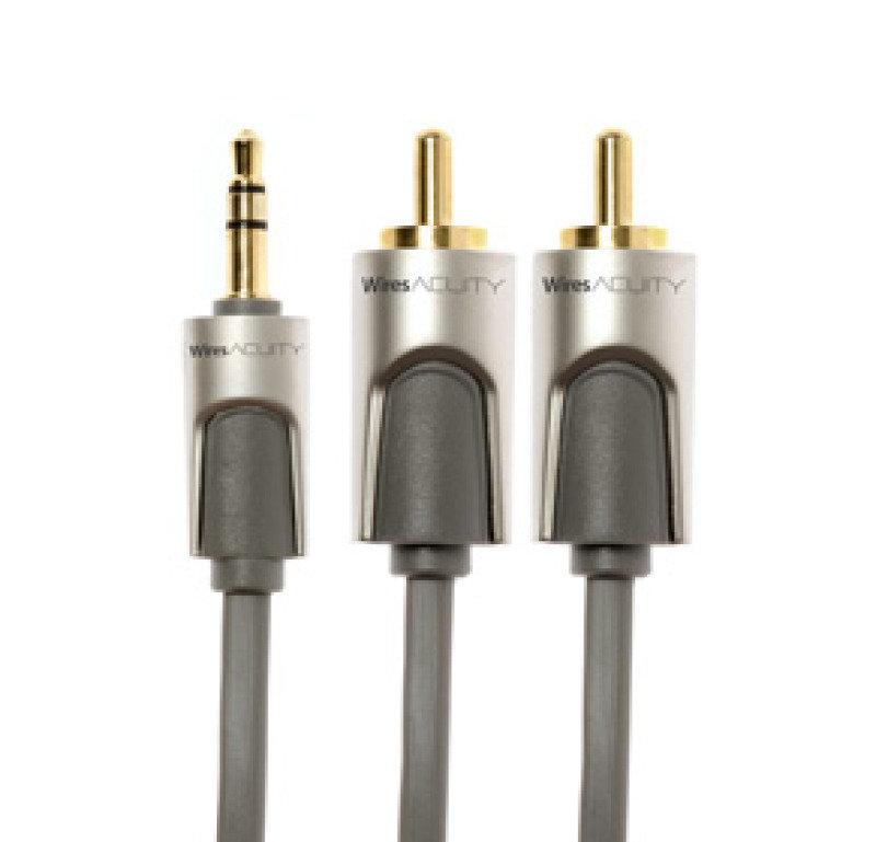 Techlink WiresAcuity 3.5mm Stereo Plug To 2 X Rcaphono Plugs