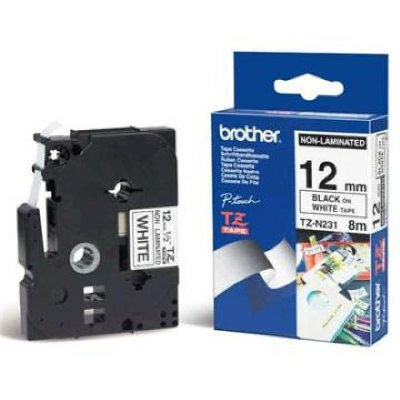 Brother P-Touch TZN Tape 12mm Black/White