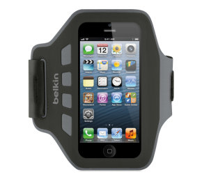 Belkin Neoprene Slim Fit Armband For Iphone 5 In Black And Grey