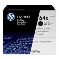 HP 64X Black Dual Pack Toner Cartridges - CC364XD