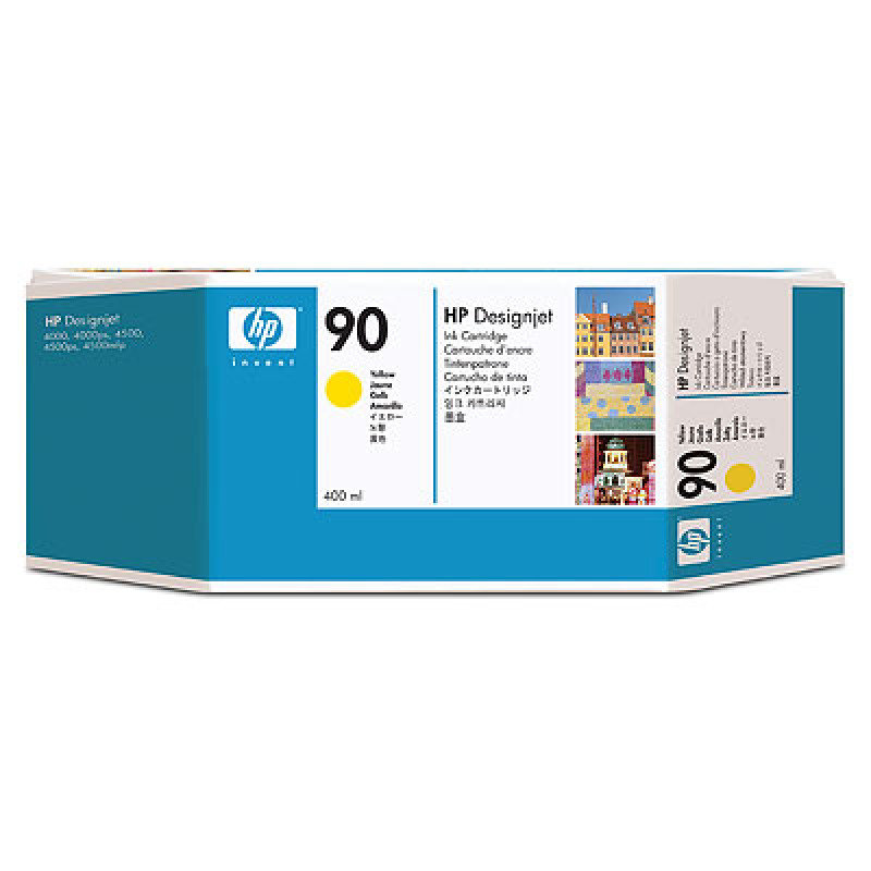HP 90 Yellow Ink Cartridge - 400ml