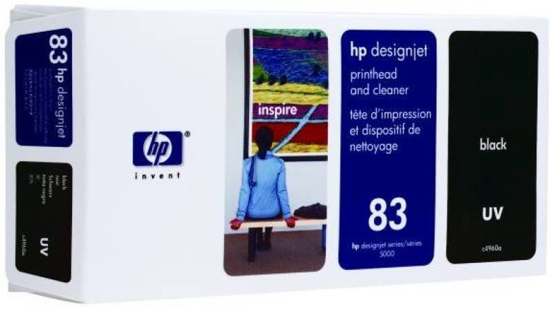 HP 83 Black Printhead with cleaner - C4960A