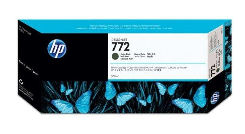 HP 772 Matte Black Original Ink Cartridge - Standard Yield 300ml - CN635A
