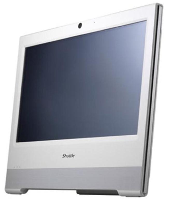 Shuttle X50v3l Atom D2550 dual core Barebone with 15.6&quot Monitor  White