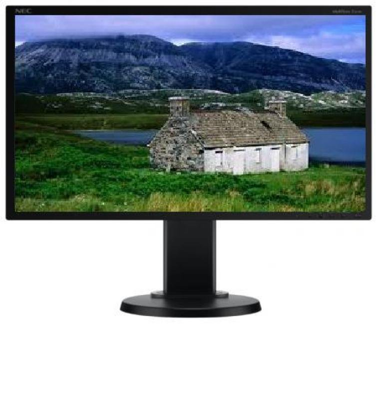 NEC MultiSync E201W 20&quot LED LCD DVID Monitor  Black