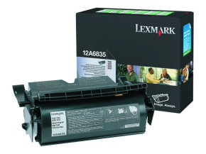 Lexmark 12A6835 Black Toner Cart High Yield For T520/522 - 20K Pages