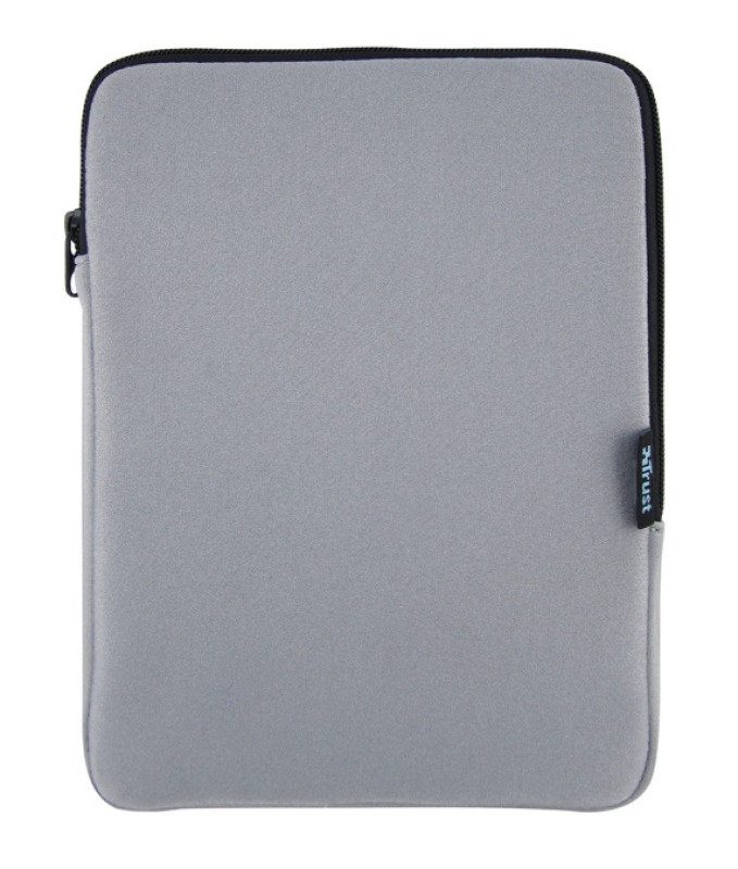 "Image of Trust Zippered Soft Sleeve For Tablets up to 10"" - Grey"