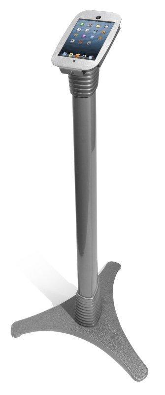Image of iPad mini Adjustable stand Space Enc Silver - Adjustable Floor Stand - 45 degree angled display mount - For iPad mini