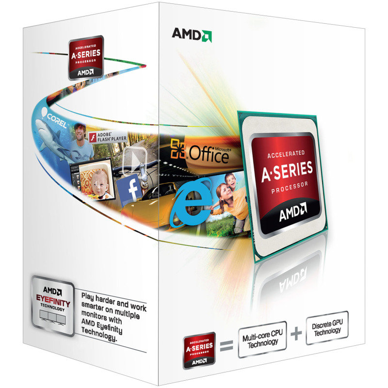 Image of AMD A-Series A4 4000 Trinity Socket FM2 3GHz 1MB L2 Cache Retail Boxed Processor