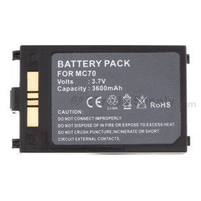MC70/75 3600 MAH BATTERY - 10PK - IN