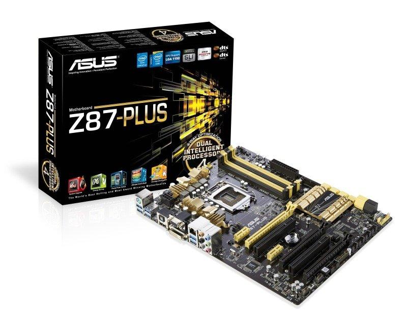 Asus Z87-Plus Socket 1150 HDMI DVI Mini DisplayPort 8-Channel HD Audio ATX Motherboard