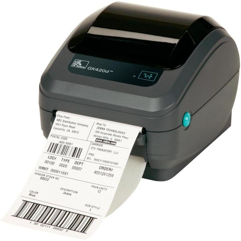 Zebra GK420d Direct Thermal Desktop Printer
