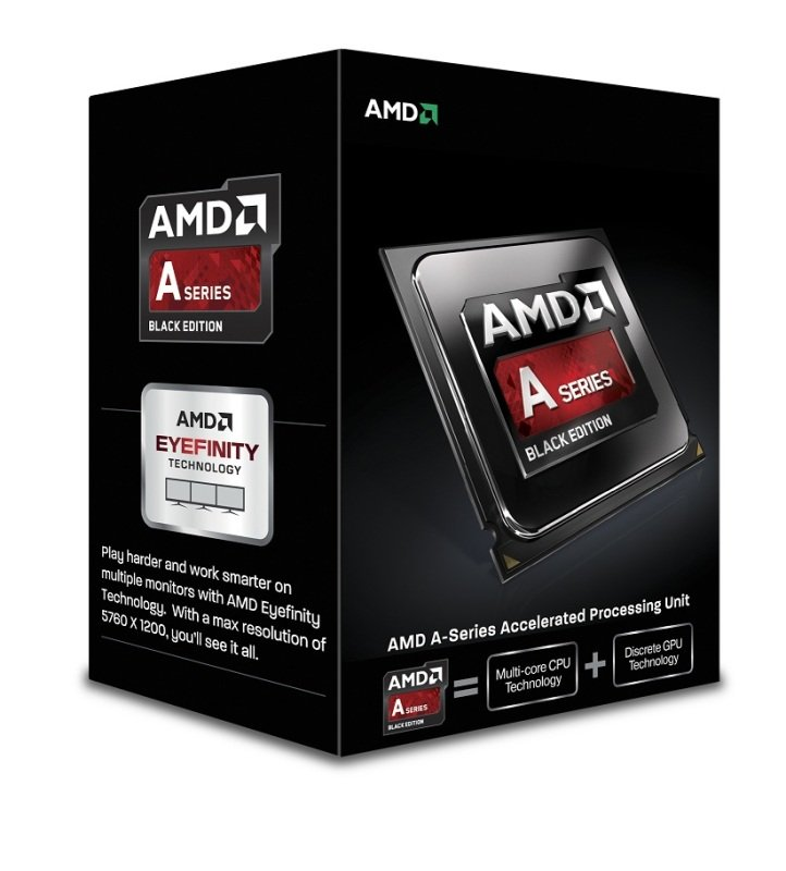 Image of AMD APU A6 6400K Black Edition 3.9GHz Socket FM2 1MB L2 Cache Retail Boxed Processor
