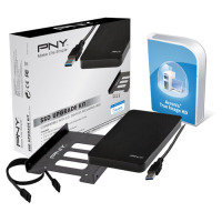 Pny Ssd Upgrade Kit Consisting Of 2.5'' Usb 3.0 External Enclosure , 2.5 '' To 3.5'' Bay,screws,screwdriver,sata Iii Data Cable