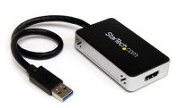 StarTech.com USB 3.0 to HDMI External Video Card Adapter w/ 1-Port USB Hub