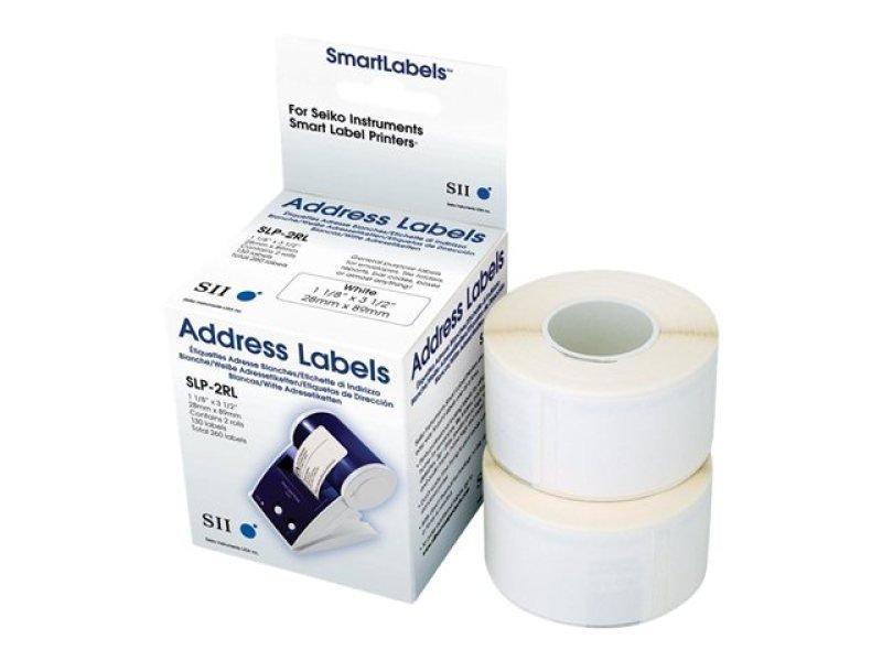 Seiko Slp-2rlh White Label 28x89mm - 260 Lab/roll 2 Roll/box In