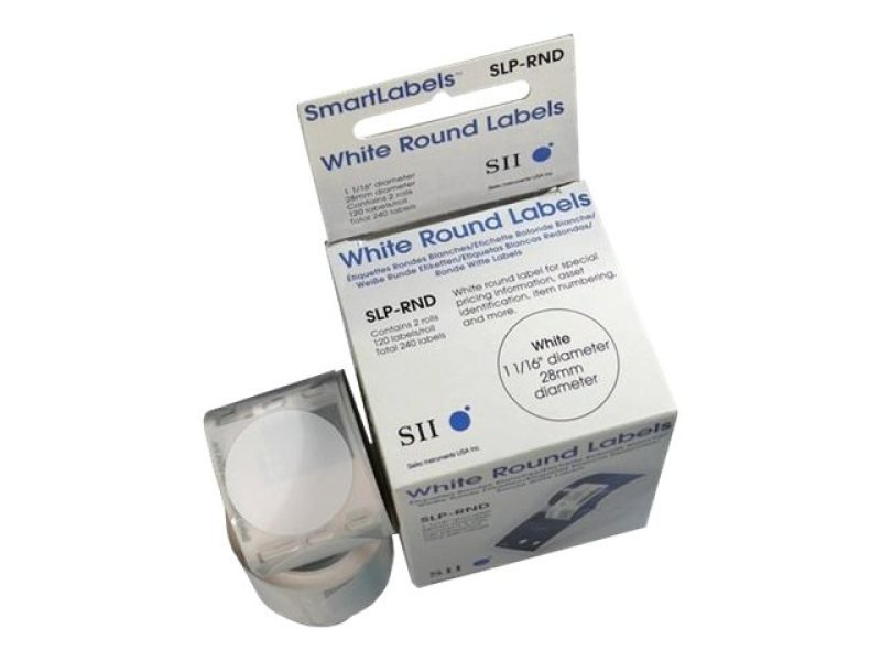 Slp-rnd Round Label 28mm - 120 Lab/roll 2 Roll/box In