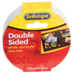 Sellotape Doublesided Tape 25mmx33M - 6 Pack
