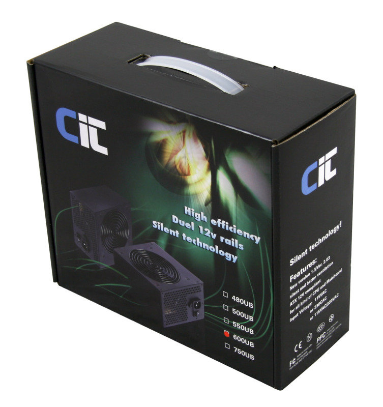 CIT Dual Rail 600W Fully Wired Efficient Power Supply