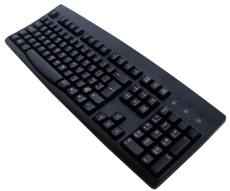 ACCURATUS 260 PS2 BLACK EURO KEYBOARD